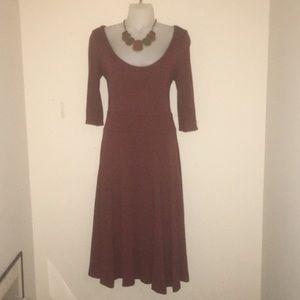 H&M brown/burnt orange flare dress